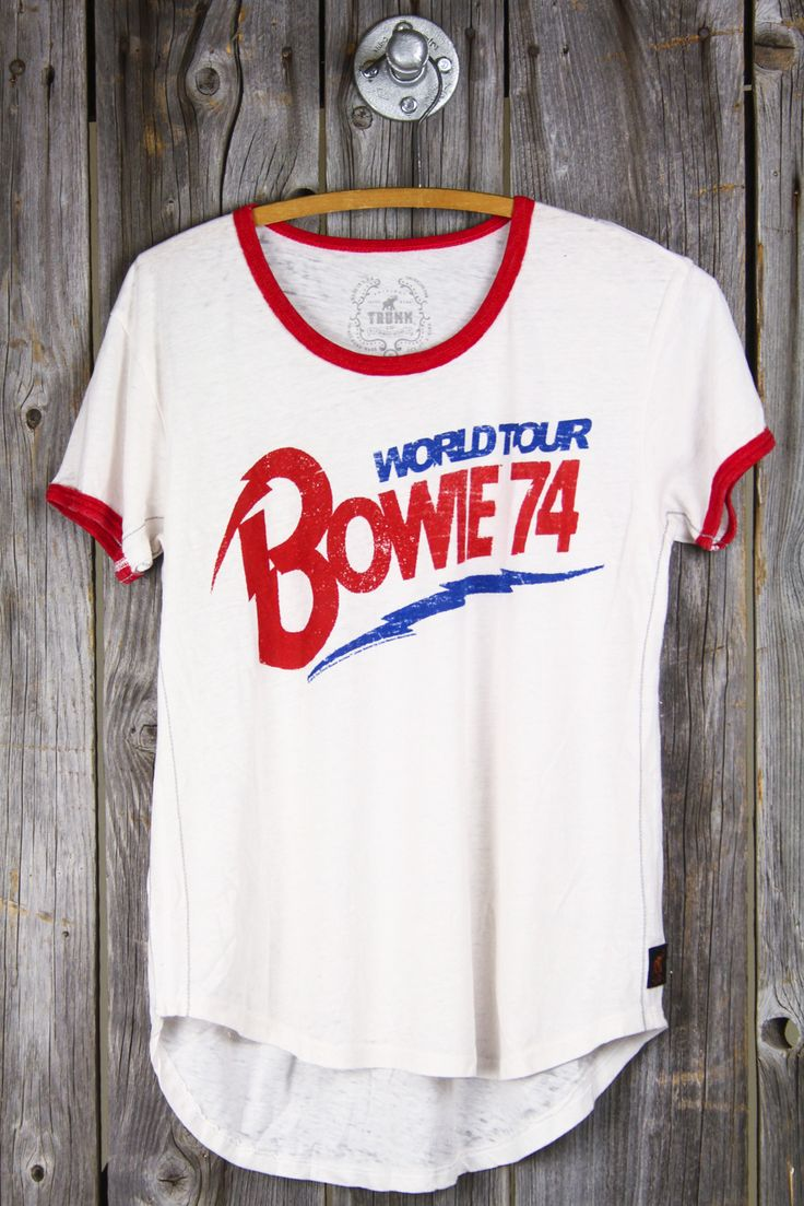 TRUNK LTD Bowie '74 World Tour Ringer Tee | not the hugest Bowie fan but my dad is and I am getting into older music (thank perks of being a wallflower)