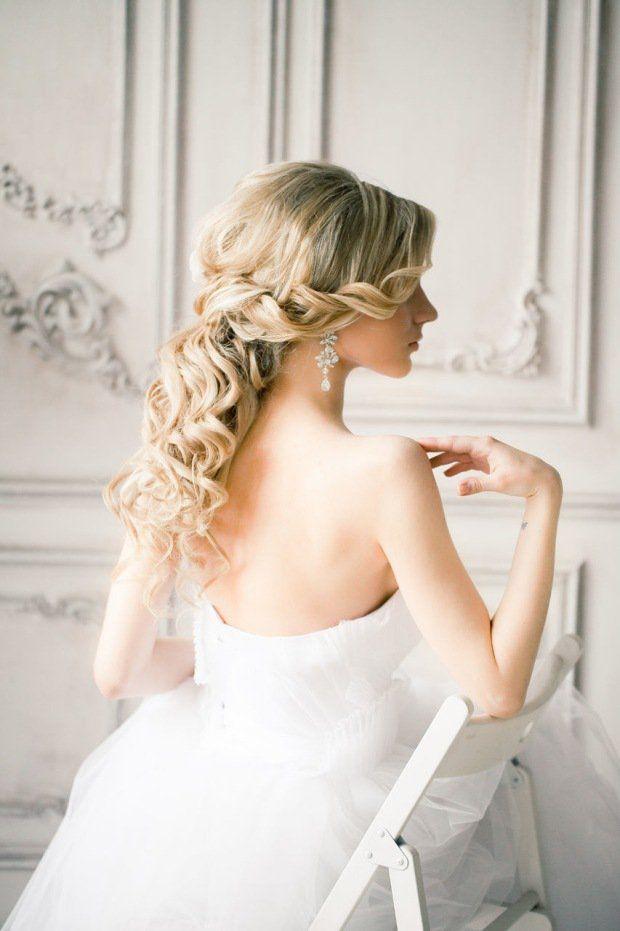 coiffure mariage tresse latérale en mèches torsadées