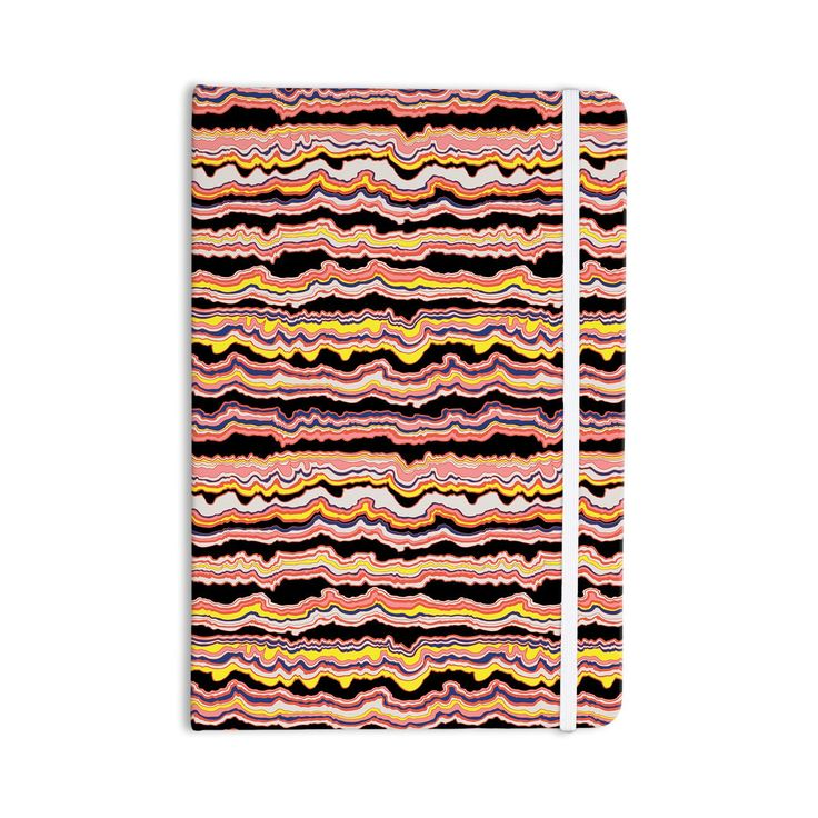 "DLKG Design ""Expressive Lines"" Illustration Black Everything Notebook from KESS InHouse"