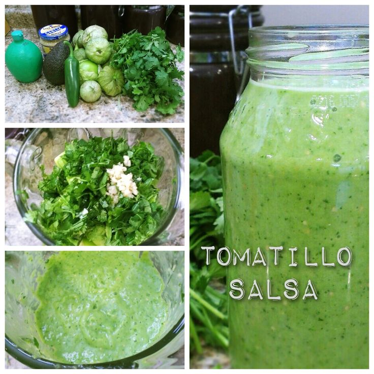 This is the best tomatillo salsa recipe I've ever found. We make it weekly, it is so easy and so tasty that we just burn through. Plus it's only about 10 calories per serving! www.sodapopave.com