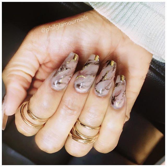 Les 25 meilleures id es concernant ongles en marbr s sur for Nageldesign tutorial