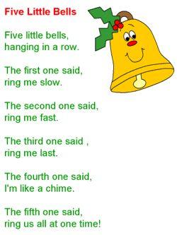 Christmas song - Five Little Bells