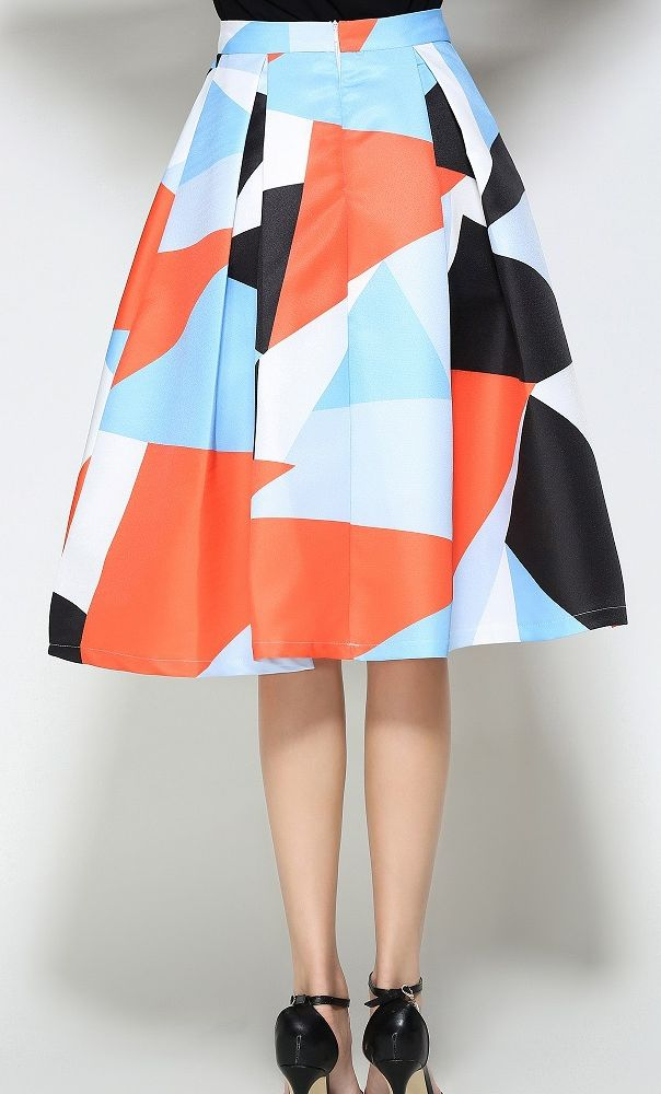 Audrey color block midi skirt available in S-2XL