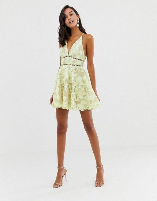 9e68a1e44d20 ASOS DESIGN | ASOS DESIGN cami prom midi dress with sequin embellishment