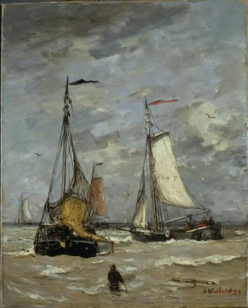 'Sailboats' (1880) by Hendrik Willem Mesdag