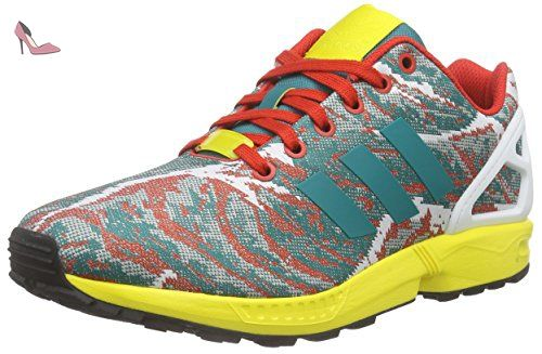 adidas ZX Flux Weave, Baskets Basses Homme, Grün (Eqt Green S16/Yellow/Red), 43 1/3 EU - Chaussures adidas (*Partner-Link)