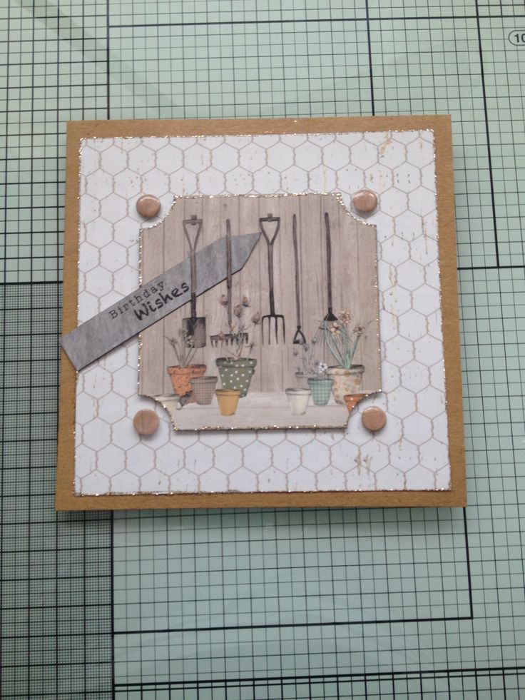 card with cwc 'potting shed' papers