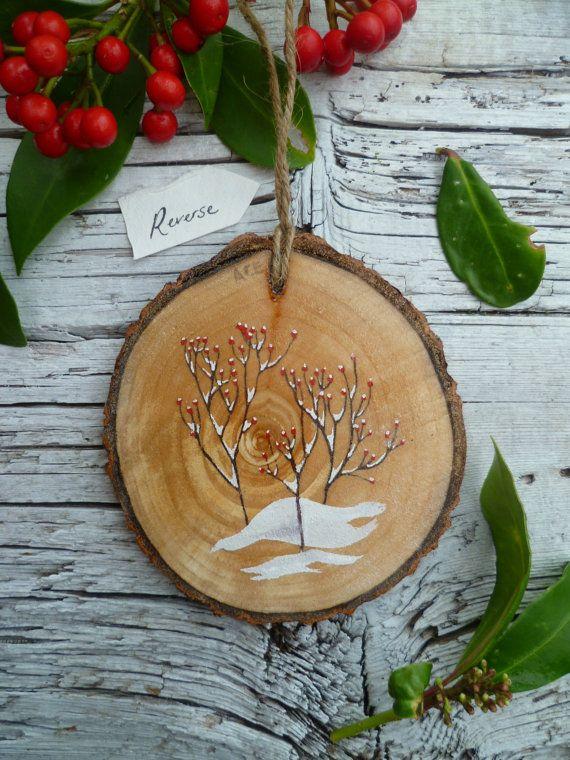 Ornamento di Natale rustico grande: Bacca lepre di AliceCEades
