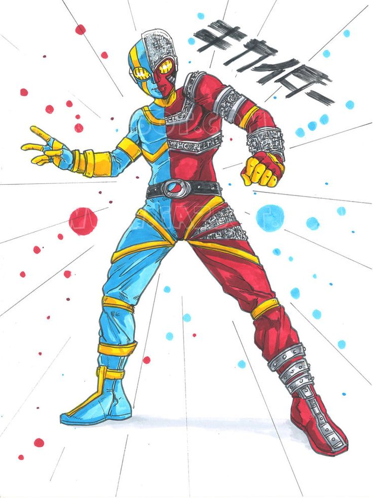 Kikaida the Tokusatsu metal hero Android, Original art, ink & color by Gazbot US #PopArt