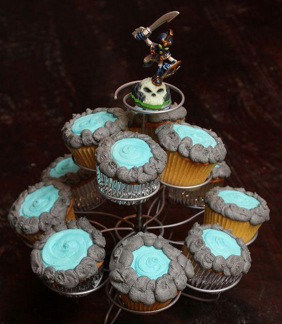 Skylanders Portal Cupcakes by booturtle, via Flickr