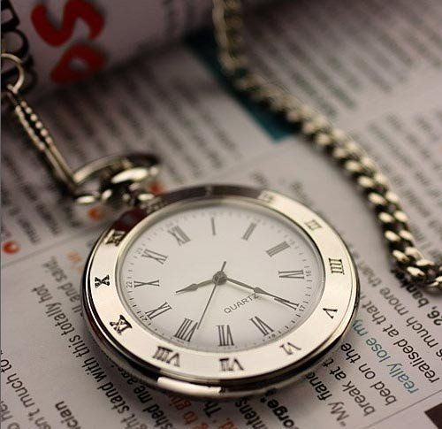 Pocket Watch for Men Silver Tone Slick and Elegant Novelty. $29.95. Slim width