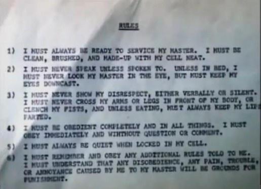 Leonard Lake and Charles Ng's List of Rules – Crime Library