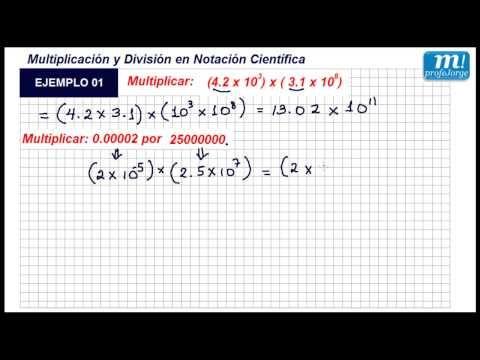 NOTACIÓN CIENTÍFICA- Multiplicación y división - Ejemplo 01 - YouTube