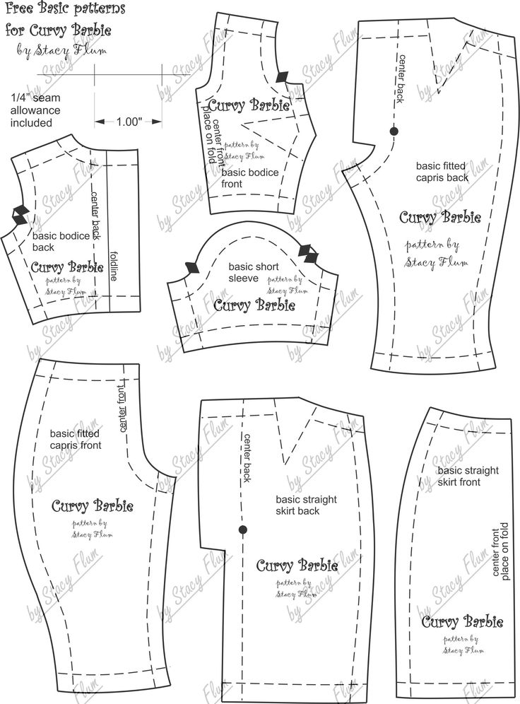 786 best Curvy Barbie patterns (and other assorted other dolls ...