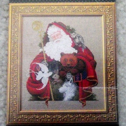 Santa of the Forest cross stitch chart