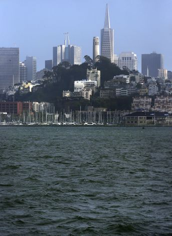 The skyline of San Francisco, Ca., on June 5, 2014, as seen from the Alcatraz Ferry.