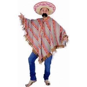 Déguisement poncho mexicain adulte (poncho inca)