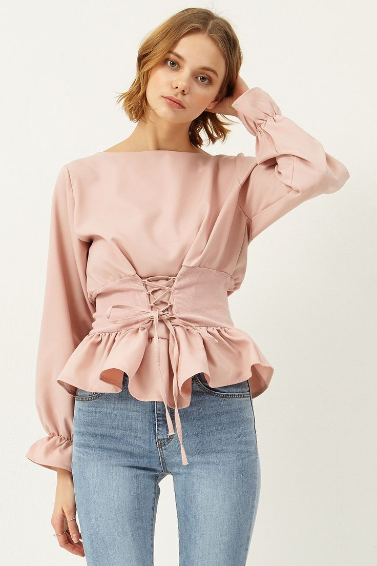 Abigail Corset Blouse Discover the latest fashion trends online at storets.com