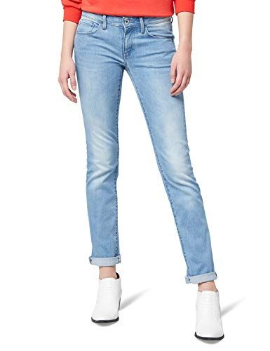 61a94d42717 G-STAR RAW Women's 3301 Deconst Mid Straight Jeans Blue (lt Aged 424) 24  W/30 L