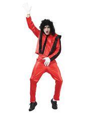 Michael Jackson Thriller Fancy Dress 1980s Costume Adult Mens King Of Pop New