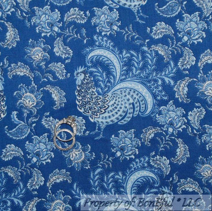 BonEful Fabric FQ Cotton Quilt Brown Green Flower Damask Toile Dot Scroll Swirl