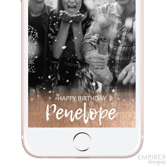Snapchat Geofilter Birthday Birthday Snapchat Filter Custom