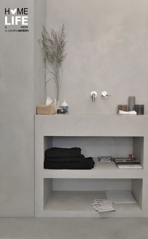 concrete ♥ belle couleur de béton pour la salle de douche