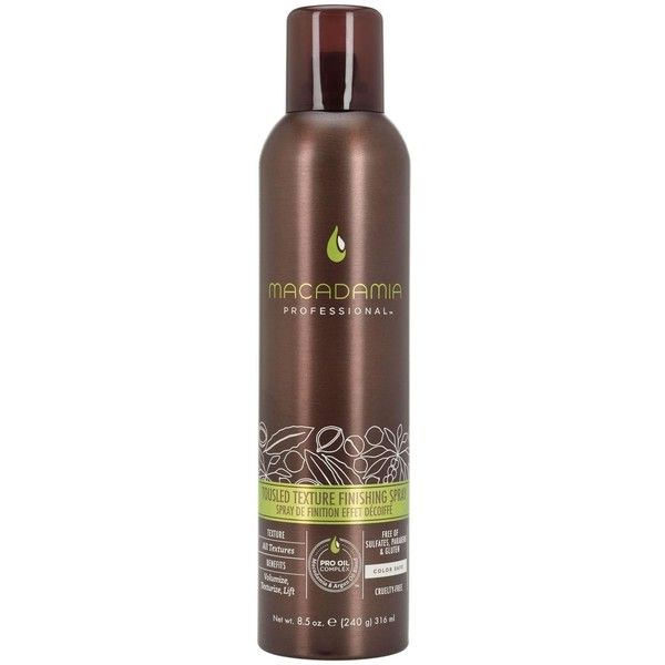 Macadamia Hair Tousled Texture Finishing Spray - 8.5 oz ($25) ❤ liked on…