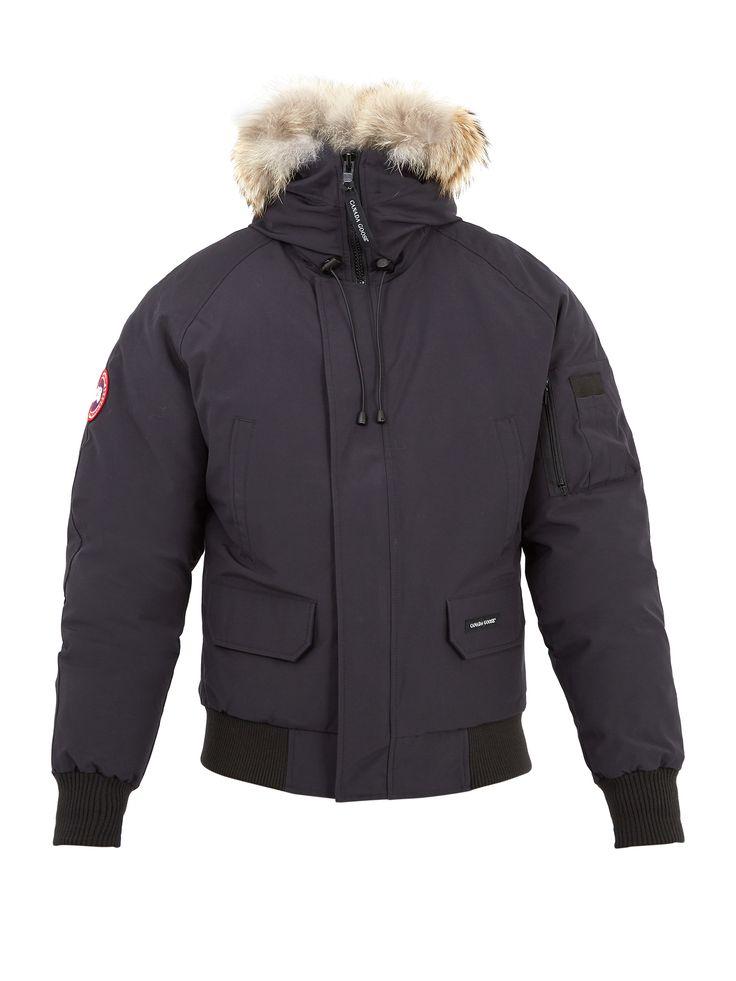 CANADA GOOSE Chilliwack fur-trimmed bomber jacket. #canadagoose #cloth #