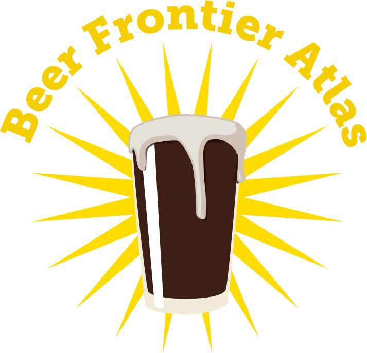 Logo: Beer Frontier Atlas and pint of beer