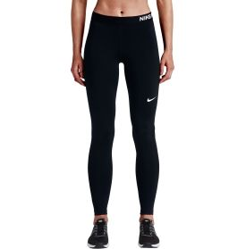 Keep sweat in check, and support your range of motion with the Nike® Women's Pro Cool Tights. Designed to keep you moving comfortably, these tights feature sweat-wicking Dri-FIT® fabric and mesh panels behind the calves to enhance airflow. A wide elastic waistband and flat seams combine for a smooth, streamlined feel. Stay relaxed and confident in these Leg-A-See Solid Logo Leggings.