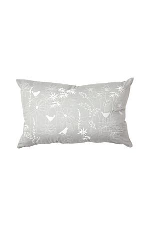"This elegant floral embroidered scatter cushion will add a classic feminine touch to your bedroom setting. Measures 30x45cm.<div class=""pdpDescContent""><BR /><BR /><b class=""pdpDesc"">Fabric Content:</b><BR />100% Cotton<BR /><BR /><b class=""pdpDesc"">Wash Care:</b><BR>Gentle cycle cold wash</div>"