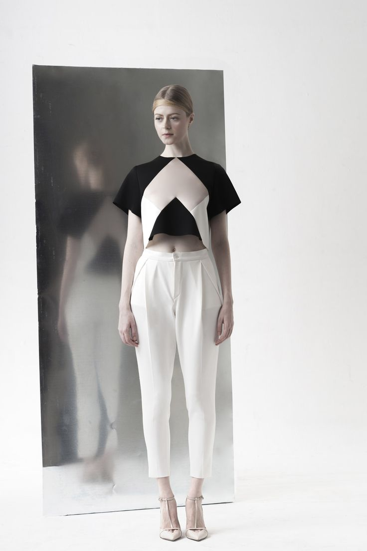 PEGGY HARTANTO SS14 'QUANTUM' - Ribose (cropped top) + Nitrogen (pants)