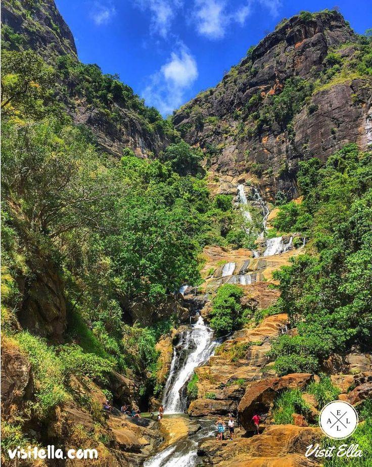 Ravana Falls squeezing through rocks     #SriLanka #VisitSriLanka #travelsrilanka #weekends