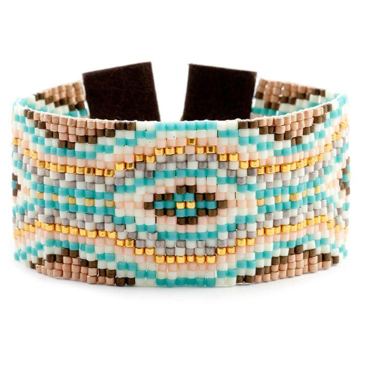 Chan Luu - Salmon Mix Beaded Cuff Bracelet, $295.00 (http://www.chanluu.com/bracelets/salmon-mix-beaded-cuff-bracelet/)