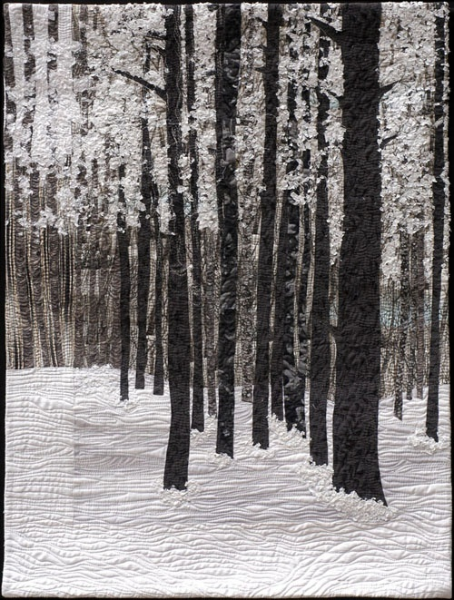 art quilt by Nicole Dunn.   I love black and white photos. This quilt is gorgeous.