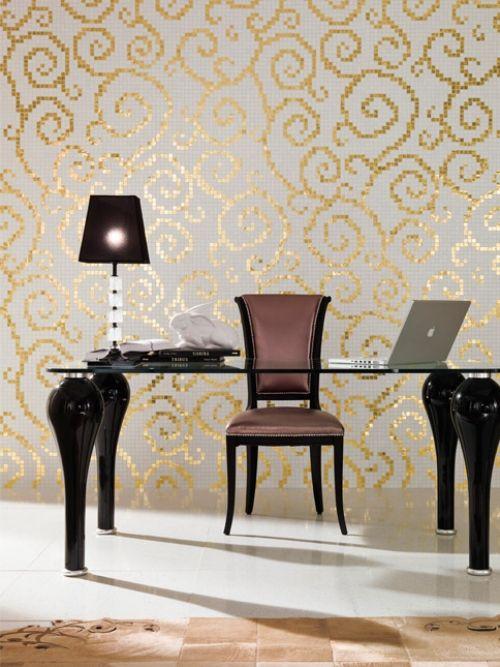 Uberlegen Art Mosaikfliesen Trend Luxus Fliesen Gold