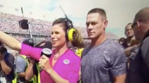 Reporter slaps John Cena in the face with her ponytail at Daytona 500 http://ift.tt/1PQRGfF  One moment youre John Cena professional wrestler and American hero.  The next youre just some dude whos in the way of Foxs Daytona 500 reporting.  SEE ALSO: John Cena spends 7 Minutes in Heaven with Mike OBrien  Cena who served as the Honorary Pace Car Driver at Sundays Daytona 500 was caught in the line of fire during a reporting segment with Foxs Jamie Little. As Little moves excitedly through the…
