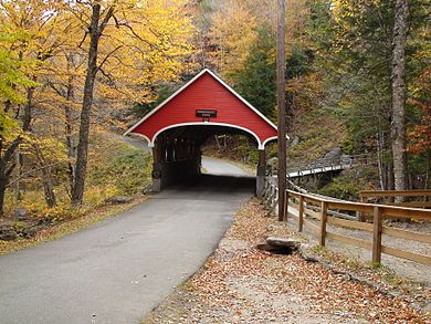 Franconia Notch State Park, Kissing Bridge - Franconia, NH