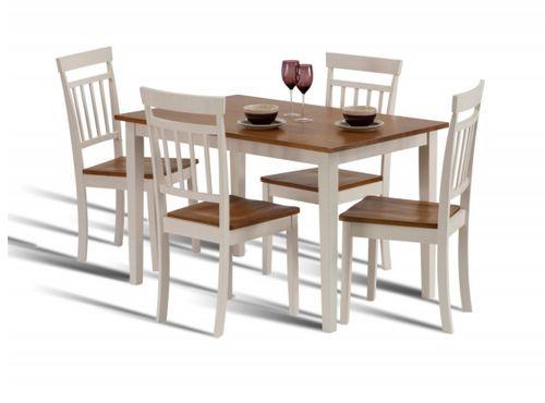 Hudson, ivory dining set, dining set, oak dining set, dining set, oak dining table, compact dining set, compact dining table, oak dining table,painted diniing set