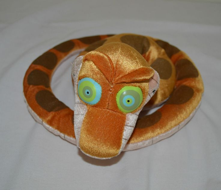 Disney Jungle Book Kaa Snake Plush Glow Dark Eyes Stuffed