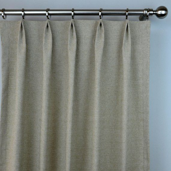 Pair Of Pinch Pleat Top Curtains In Solid Natural Beige Taupe Denton Fabric Cortinas Decoracion Hogar Decoracion De Unas