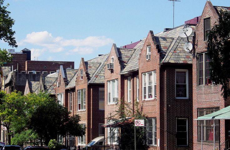 Wandering New York, Houses in Jackson Heights, Queens.