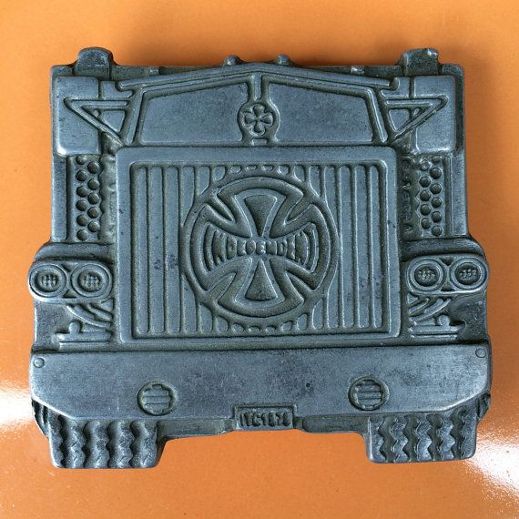 Skater - Independent Truck Company Buckle / Belt ? 1978 Trucking Rig Pewter Buckle ? ?Independent? Logo ? ITC 1978
