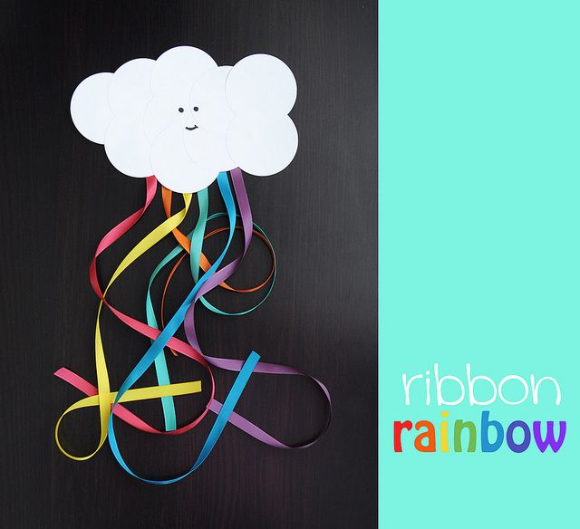 Happy Cloud Ribbon Rainbow {spring craft for kids}