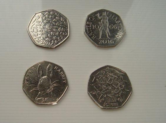 50p coins x 4 Peter Rabbit  WWF Presidency EU Battle of Hastings £7.99 or Best Offer Ebay Uk Item Number 362163395049