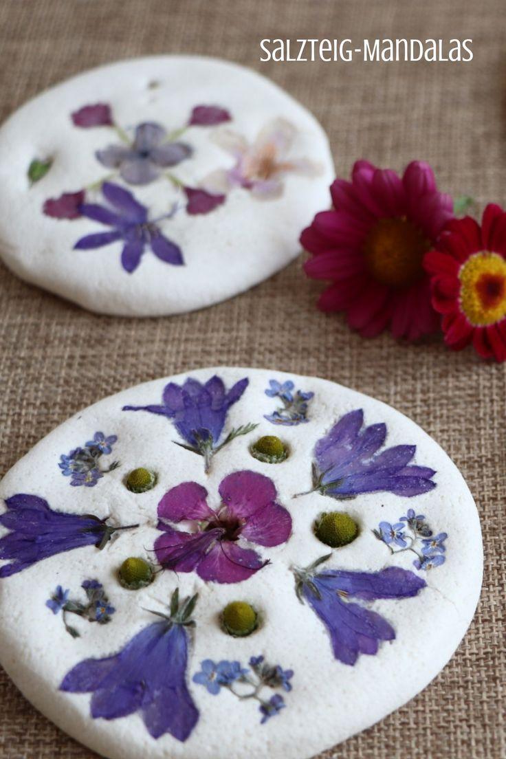 Out into nature: crafts with natural materials – salt dough mandalas