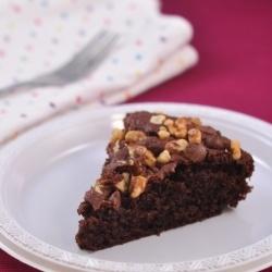 Eggless Walnut and Chocolate Cake by amuthiskitchen