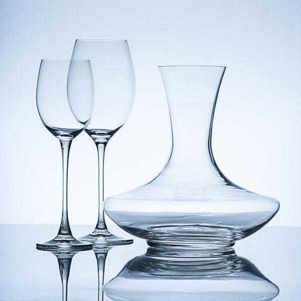 product photography, productfotografie, transparancy, transparant materiaal, glas, glass, wine, wijn, karaf,