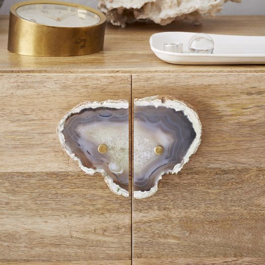 Agate Cabinet Handle Set   Dark Gray